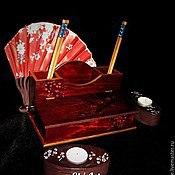 Карандашницы ручной работы. Ярмарка Мастеров - ручная работа Органайзер-бюро Ночная сакура. Handmade.