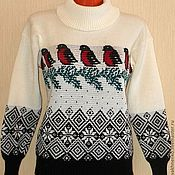 Одежда handmade. Livemaster - original item Sweater knitted bullfinch. Handmade.