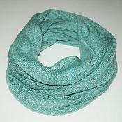 Аксессуары handmade. Livemaster - original item Scarf-cowl from kid-mohair silk lurex. Handmade.