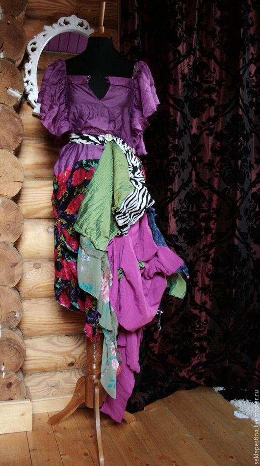 """Платья ручной работы. Ярмарка Мастеров - ручная работа. Купить платье""""цыганка"""". Handmade. Комбинированный, спущенный рукав, цыганка, удобное"""