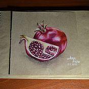 Картины ручной работы. Ярмарка Мастеров - ручная работа Картины: Спелый гранат. Handmade.
