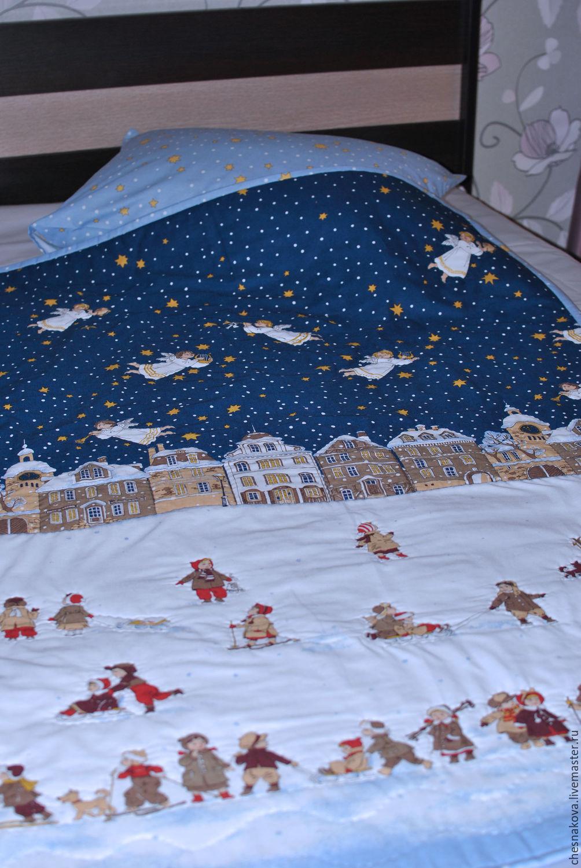 """Пледы и одеяла ручной работы. Ярмарка Мастеров - ручная работа. Купить Детское одеяло """"Рождество"""". Handmade. Рождество, детское одеяло"""