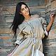 Платья ручной работы. Платье длинное лен, стильное льняное платье «Беж». 'Eva' Дарья и Ольга:). Ярмарка Мастеров.