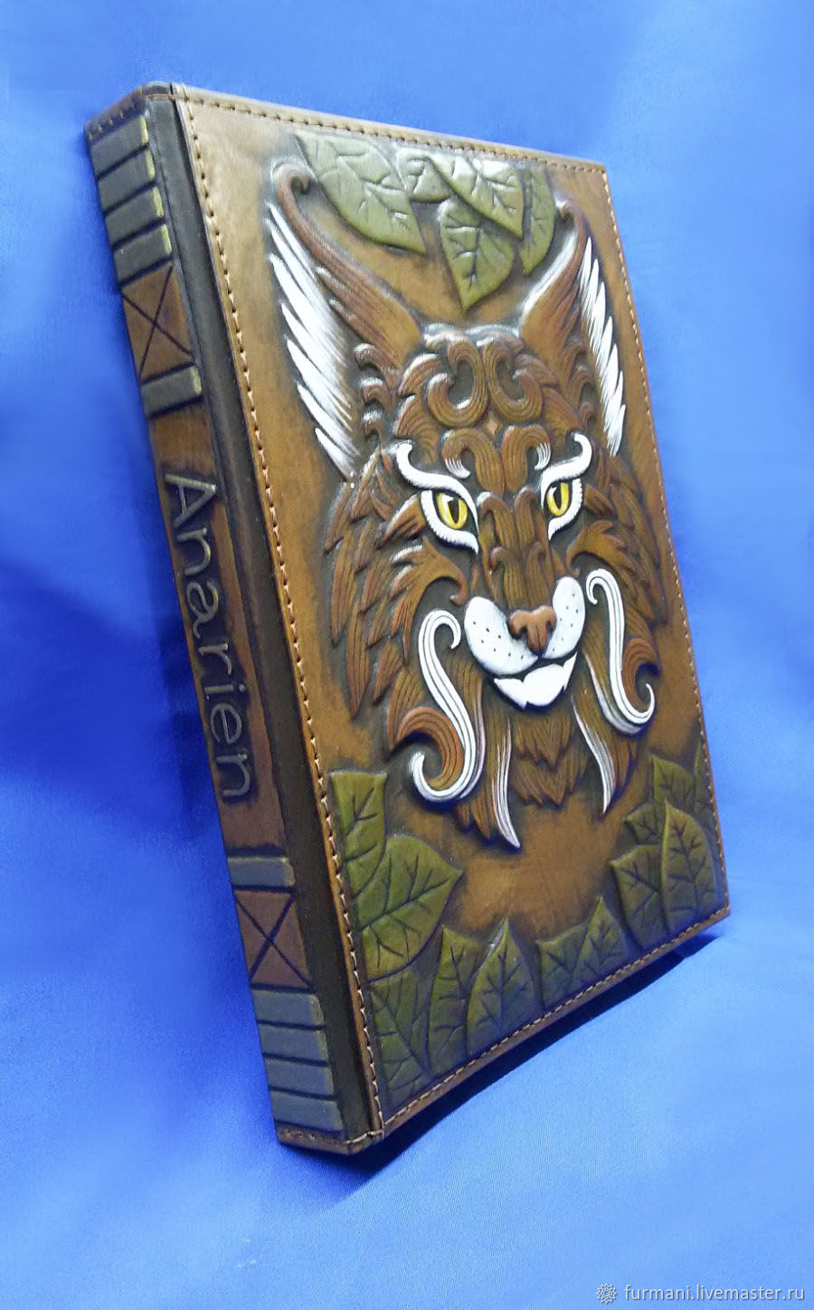 """Leather notebook """"SHARP-SIGHTED LYNX"""", Notebooks, Krivoy Rog,  Фото №1"""