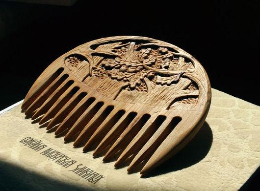 Гребни, расчески ручной работы. Ярмарка Мастеров - ручная работа. Купить Деревянный гребень Дубрава. Handmade. Гребень для волос, Рябина