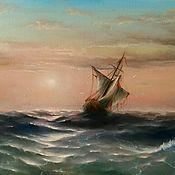 """Картины и панно ручной работы. Ярмарка Мастеров - ручная работа Картина маслом """"Корабль после бури"""". Handmade."""