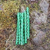 Фен-шуй и эзотерика handmade. Livemaster - original item Candle for money twist with herbs. Handmade.