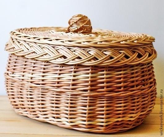 Шкатулки ручной работы. Ярмарка Мастеров - ручная работа. Купить Шкатулка (хлебница) плетеная из лозы. Handmade. Шкатулка из лозы