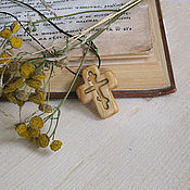 """Работы для детей, ручной работы. Ярмарка Мастеров - ручная работа """"Молитва"""" - деревянный нательный крест из кипариса. Handmade."""