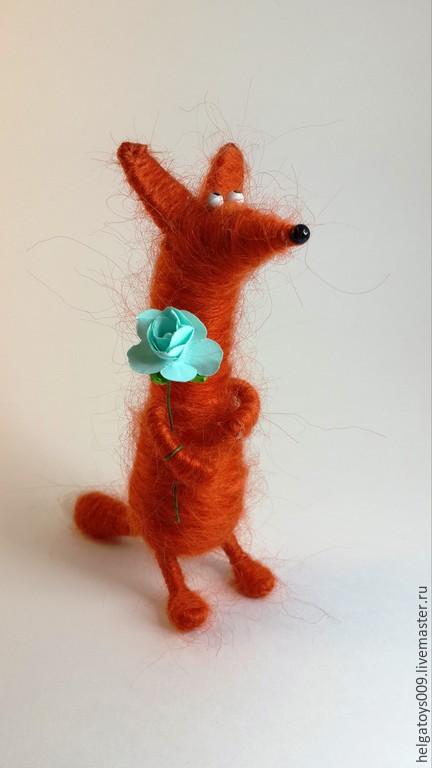 Куклы и игрушки ручной работы. Ярмарка Мастеров - ручная работа. Купить Лиса. Handmade. Рыжий, игрушка из шерсти, подарок