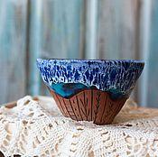 Посуда ручной работы. Ярмарка Мастеров - ручная работа Пиалка Дом у моря керамика. Handmade.