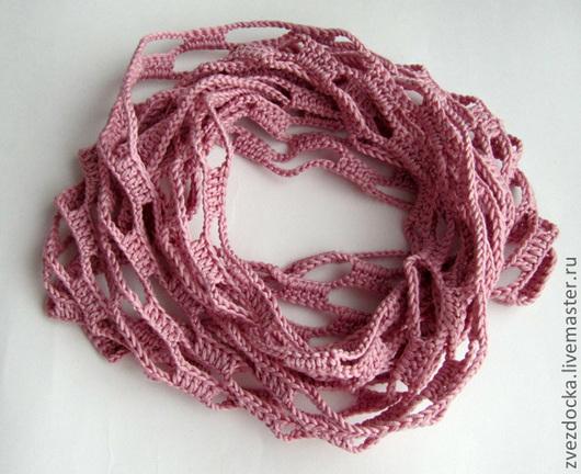 """Шали, палантины ручной работы. Ярмарка Мастеров - ручная работа. Купить шарф - снуд """"Чайная роза"""". Handmade. Шарф"""