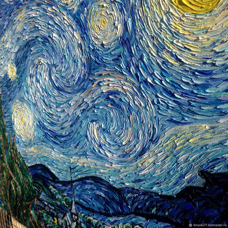 кошечки дворовые картина ван гога звездная ночь оригинал фото чистейший пляж белым