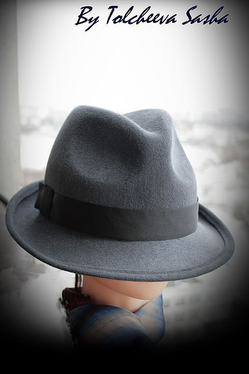 Шляпы ручной работы. Ярмарка Мастеров - ручная работа. Купить Почти Трилби . Мужская шляпа .. Handmade. Мужская шляпа
