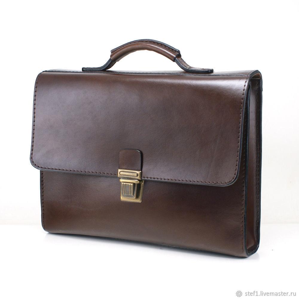 60bdc1412507 Мужские сумки ручной работы. Ярмарка Мастеров - ручная работа. Купить  Портфель-папка кожаный ...