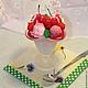 Персональные подарки ручной работы. Ярмарка Мастеров - ручная работа. Купить мыло мороженое в креманке. Handmade. Разноцветный, морожное, орешки