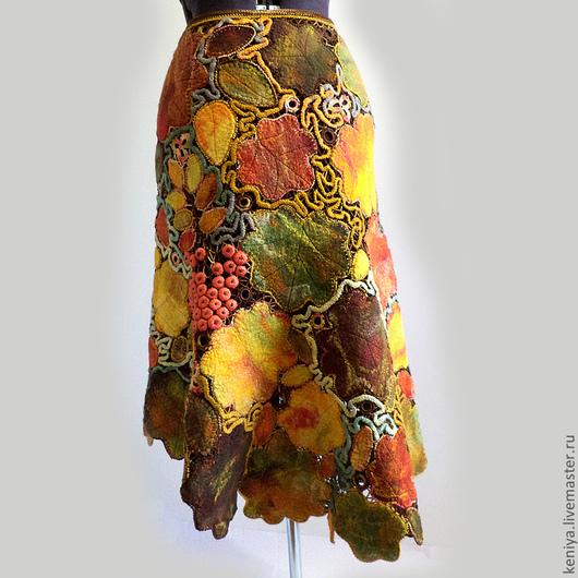 """Юбки ручной работы. Ярмарка Мастеров - ручная работа. Купить ЮБКА """"Осенний вальс"""". Handmade. Юбка, длинная юбка, кленовый"""