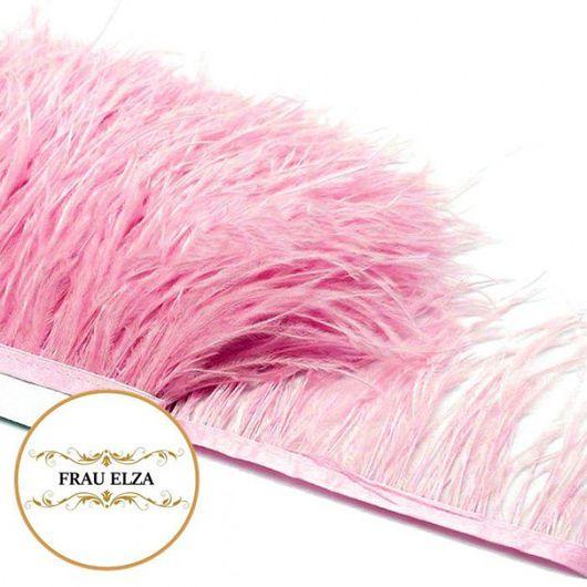 Другие виды рукоделия ручной работы. Ярмарка Мастеров - ручная работа. Купить Перья страуса на ленте розовые. Handmade.