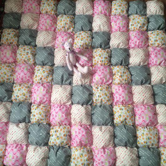 Пледы и одеяла ручной работы. Ярмарка Мастеров - ручная работа. Купить Детское одеяло. Handmade. Одеяло, одеяло бомбон, подушка