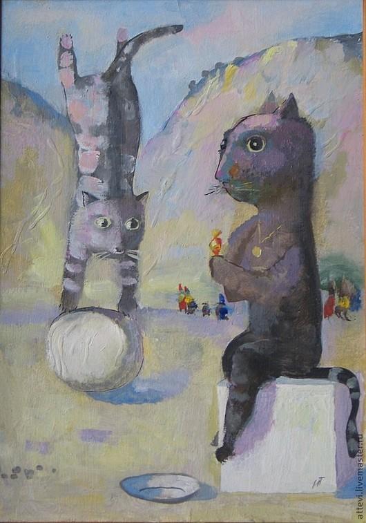 Юмор ручной работы. Ярмарка Мастеров - ручная работа. Купить Воспоминание о Пикассо. Handmade. Виликие художники, пикассо, коты, кот