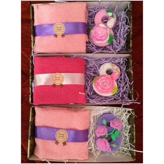 Мыло ручной работы. Ярмарка Мастеров - ручная работа. Купить Набор на 8 марта, мыльный набор, мыло 8 марта. Handmade.