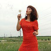 """Одежда ручной работы. Ярмарка Мастеров - ручная работа Платье """"Оранжевое небо"""". Handmade."""