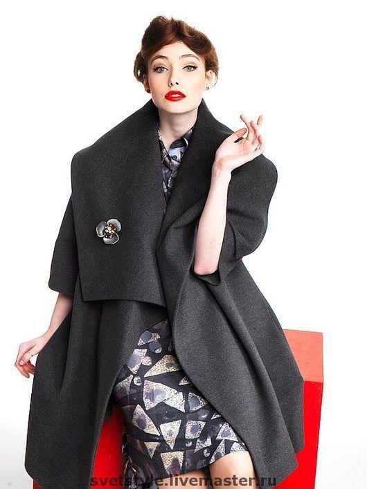 Купить стильное дизайнерское пальто. Пошив пальто на заказ. Индивидуальный пошив ручной работы. Авторская работа на заказ. Ярмарка Мастеров - ручная работа. Дизайнер Лана Морозова