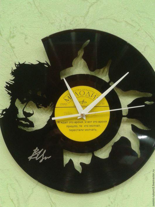 Часы для дома ручной работы. Ярмарка Мастеров - ручная работа. Купить резьба по виниловым пластинкам. Handmade. Виниловая пластинка
