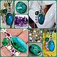 suspension: Harmony. Chrysocolla, Chalcedony, Amethyst, Pearls, Silver. Pendants. Amalia-jewelry talisman. My Livemaster. Фото №6