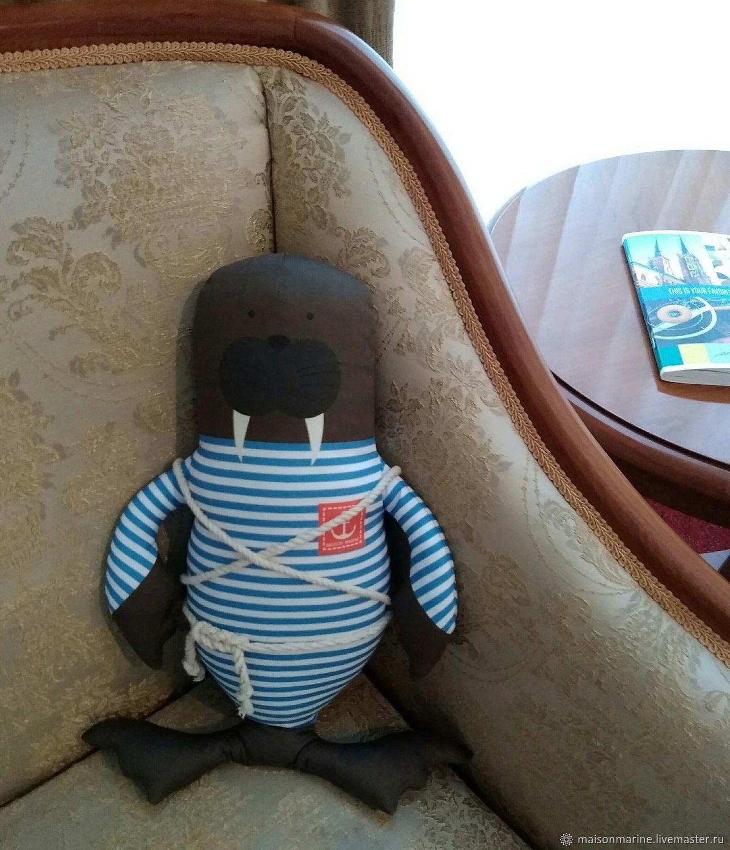 Морж Боцман Жека 41см, Мягкие игрушки, Москва,  Фото №1