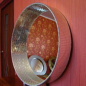 Для дома и интерьера handmade. Livemaster - original item Mirror in mosaic frame, silver, wide. Handmade.