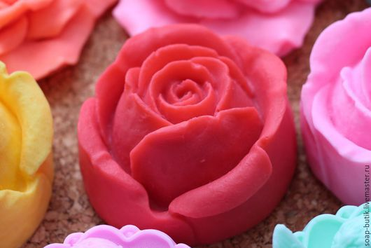 """Материалы для косметики ручной работы. Ярмарка Мастеров - ручная работа. Купить Cиликоновая форма для мыла """"Роза 3"""". Handmade."""