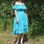 """Одежда ручной работы. Ярмарка Мастеров - ручная работа """"Бирюза"""" платье . лето. Handmade."""
