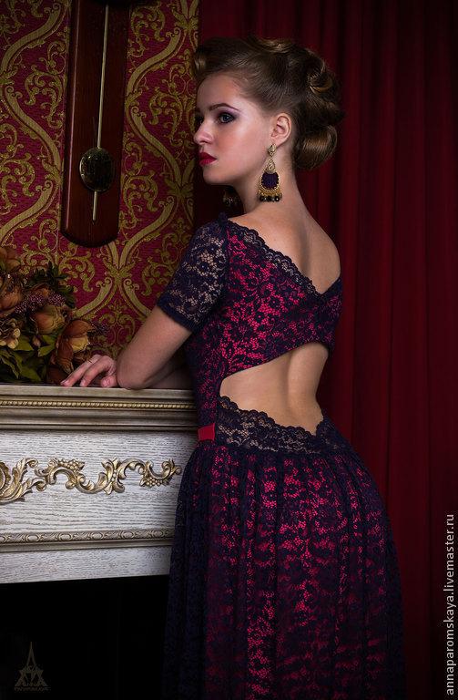 Платья ручной работы. Ярмарка Мастеров - ручная работа. Купить Кружевное платье. Handmade. Платье из кружева, Коктейльное платье