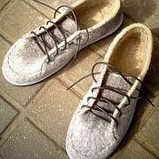 Обувь ручной работы. Ярмарка Мастеров - ручная работа Ботинки мужские,,Теплый гранит``. Handmade.