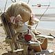 Коллекционные куклы ручной работы. Ярмарка Мастеров - ручная работа. Купить текстильная куколка-малышка. Handmade. Кремовый, кукла текстильная