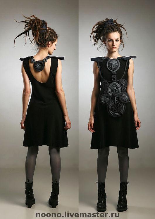 """Платья ручной работы. Ярмарка Мастеров - ручная работа. Купить Платье """" KRУGИ"""". Handmade. Валяное платье, черное платье"""