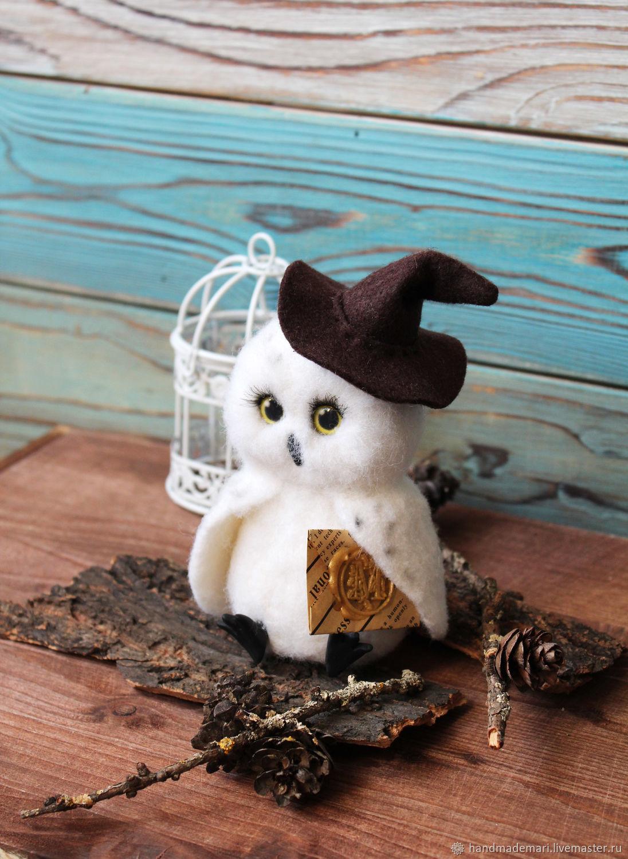 Owl Hedgehog sitting Harry Potter, Stuffed Toys, Moscow,  Фото №1