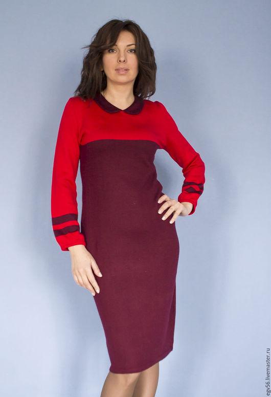 """Платья ручной работы. Ярмарка Мастеров - ручная работа. Купить платье""""Марсала"""". Handmade. Бордовый, платье вязанное, платье бордовое"""