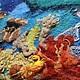 """Пейзаж ручной работы. Заказать Картина из шерсти """"Подводный сад"""". Макарова Оксана (sanzharka). Ярмарка Мастеров. Подводный мир, океан"""