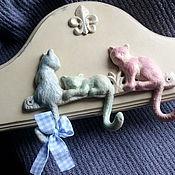 """Для дома и интерьера ручной работы. Ярмарка Мастеров - ручная работа Вешалка""""Розовый,зеленый,голубой"""". Handmade."""