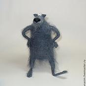 Мягкие игрушки ручной работы. Ярмарка Мастеров - ручная работа Я очень страшный серый волк. Handmade.