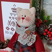 Куклы и игрушки handmade. Livemaster - original item Cat in new year`s, cat. Handmade.