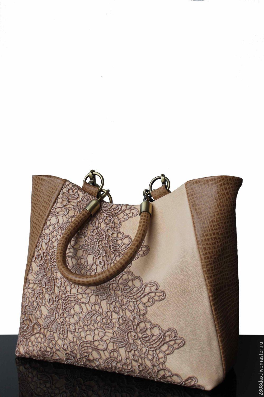 47684f67725f Женские сумки ручной работы. Ярмарка Мастеров - ручная работа. Купить  Бежевая кожаная сумка.