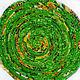 """Тарелки ручной работы. Ярмарка Мастеров - ручная работа. Купить Текстильная тарелка """"Зеленое лето"""". Handmade. Лето, желтый, яркий"""