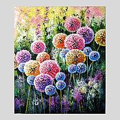 """Картины и панно handmade. Livemaster - original item Одуванчики картина на холсте """"Прекрасный Look"""". Handmade."""