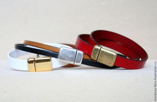 Для украшений ручной работы. Ярмарка Мастеров - ручная работа. Купить Замок 10х2 магнитный тонкий (золото, серебро, ант золото). Handmade.
