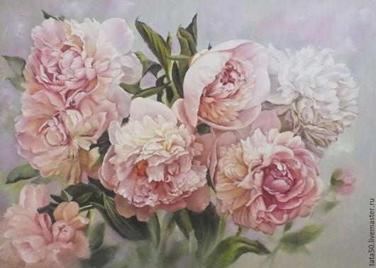 """Картины цветов ручной работы. Ярмарка Мастеров - ручная работа. Купить """"Нежность весны"""". Handmade. Бледно-розовый, картина в детскую"""
