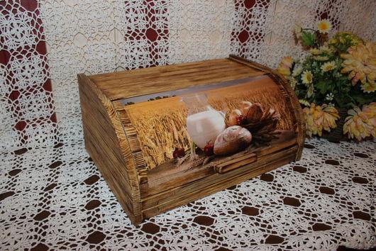 """Кухня ручной работы. Ярмарка Мастеров - ручная работа. Купить Хлебница """"Пшеничное поле"""". Handmade. Бежевый, уютная кухня"""