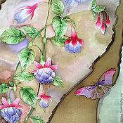 Scarves handmade. Livemaster - original item The batik silk scarf